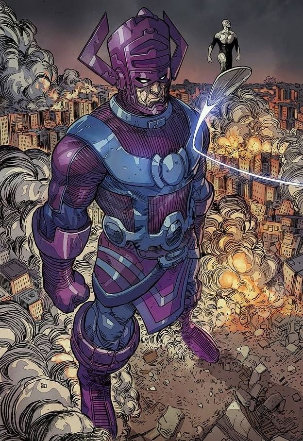 Galactus and Silver Surfer