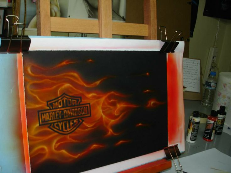 Testing the True-Fire technique!-Harley Logo