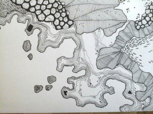 Landscape, drawing, pattern, mark making