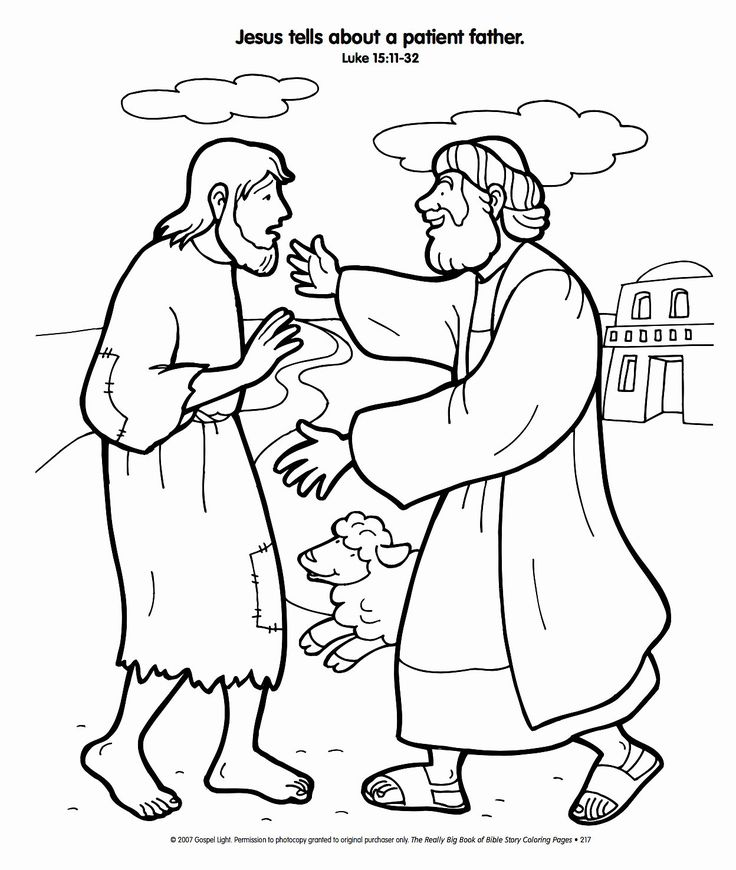 45++ Prodigal son coloring page for preschoolers ideas in 2021