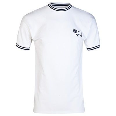 Derby County 1972 shirt, White: Derby County 1972 shirt The 1971-72 Football League title race went… #Sport #Football #Rugby #IceHockey