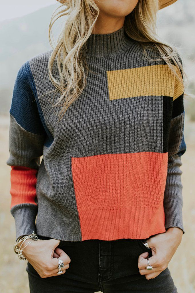 0b768cf40ec Abernathy Colorblock Sweater in 2019