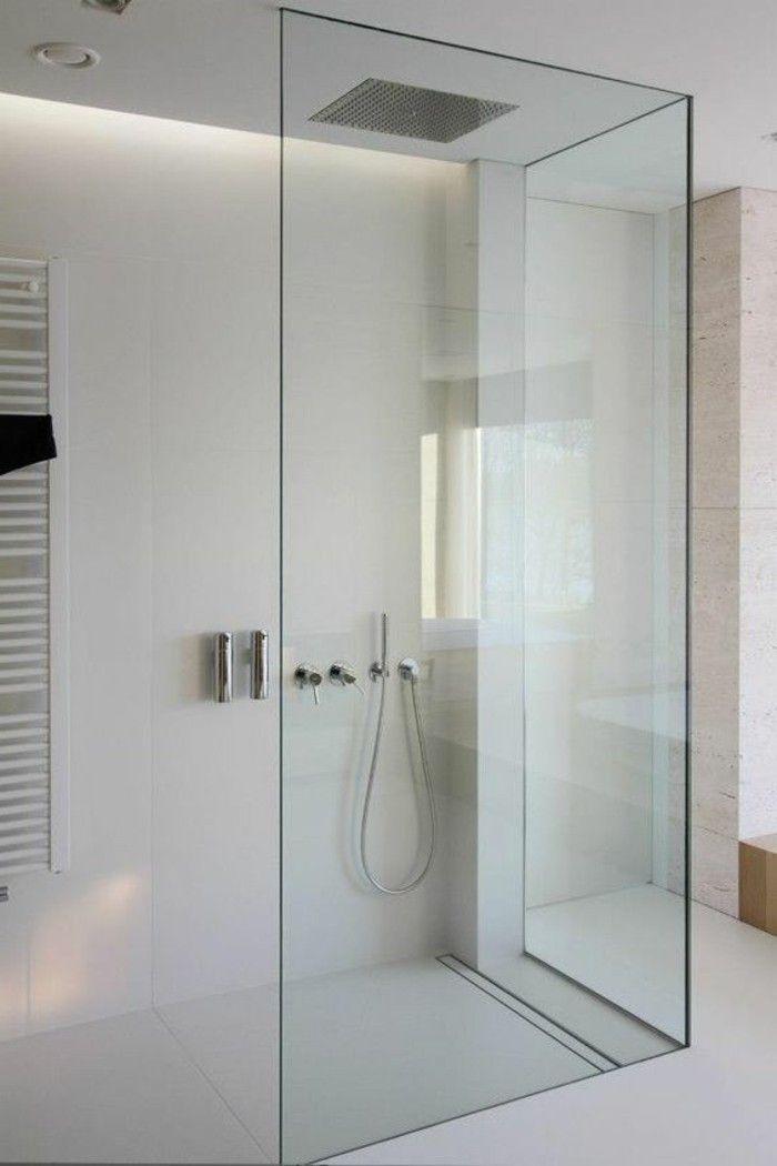 salle de bain beige, grands carreaux beiges design pour la salle de bain