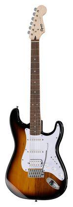 Fender Squier Bullet Strat HSS RW BSB 118+20€= 138€. Cuerepo de Tilo; Mástil de Arce; Diapasón de Palisandro; 21 trastes; Medida 648mm; ancho cejuela: 42mm; 1 Humbucker y dos bobinas simples