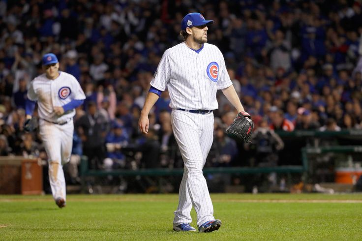 John Lackey wasn't bad in Saturday's Game 4 loss to the Indians. But Jon Lester, Jake Arrieta and Kyle Hendricks all will have to be better if the Cubs are going to come back and win the World Series. (Jamie Squire/Getty Images)