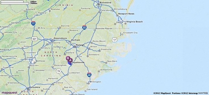 Fort Bragg North Carolina MapQuest MAPS