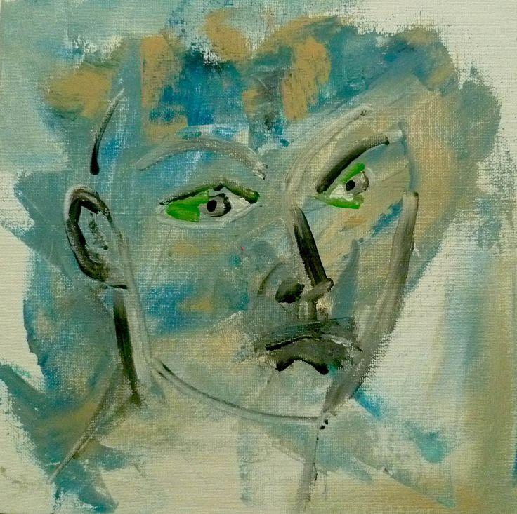 """""""Baby Lou"""" peinture acrylique réalisée sur toile. Original de l'artiste Soffya. 30 cm x 30 cm. Pièce unique : création originale de Soffya. © Tous droits réservés (article L 112-1 du code de la propriété intellectuelle)."""