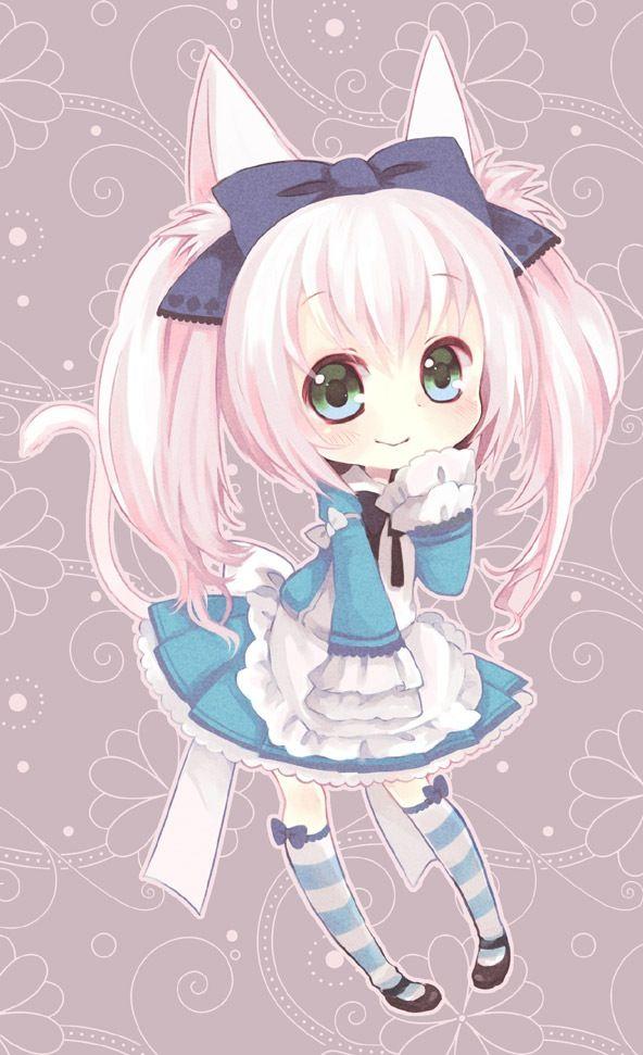 Chibi Neko Girl by HeavenlyMemories on DeviantArt  |Chibi Anime Neko Girl