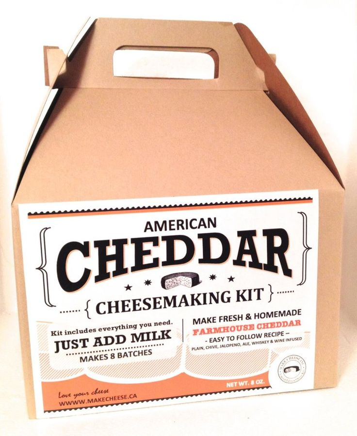 CHEDDAR CHEESE KIT - Makes 8 Batches