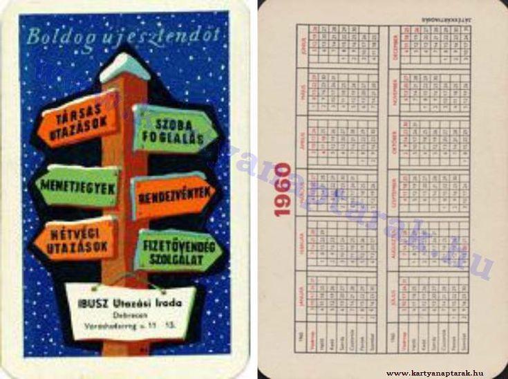 1960 - 1960_0088 - Régi magyar kártyanaptárak