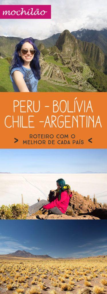 ROTEIRO NOVO INCRÍVEL!!!! Eu sei que muitos de vocês gostariam de fazer o clássico roteiro mochilão Peru Bolívia Chile mas tem dificuldades com o roteiro! Pois bem, aqui esta a salvação e de quebra adicionei uma parte bem legal e diferente da Argentina! http://apureguria.com/america-do-sul/roteiro-mochilao-peru-bolivia-chile/