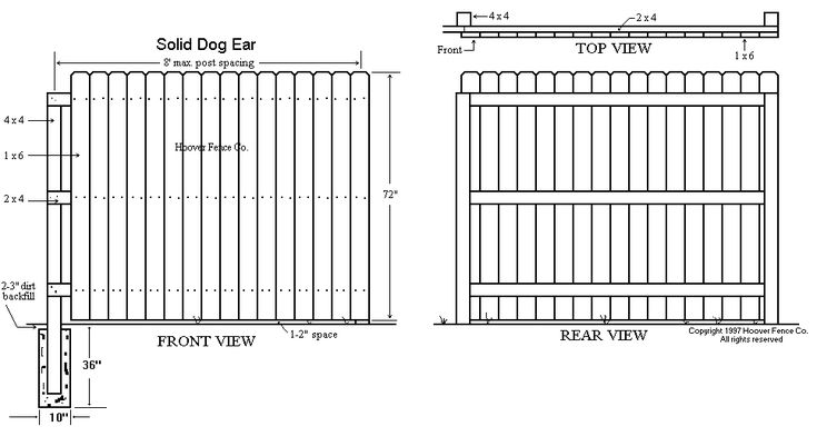 Dog Ear Fence Panels Whitewood Privacy Panel For