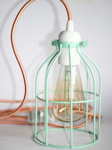 Chirpy Range – Cheeky Reubens. Mint cage with copper cord