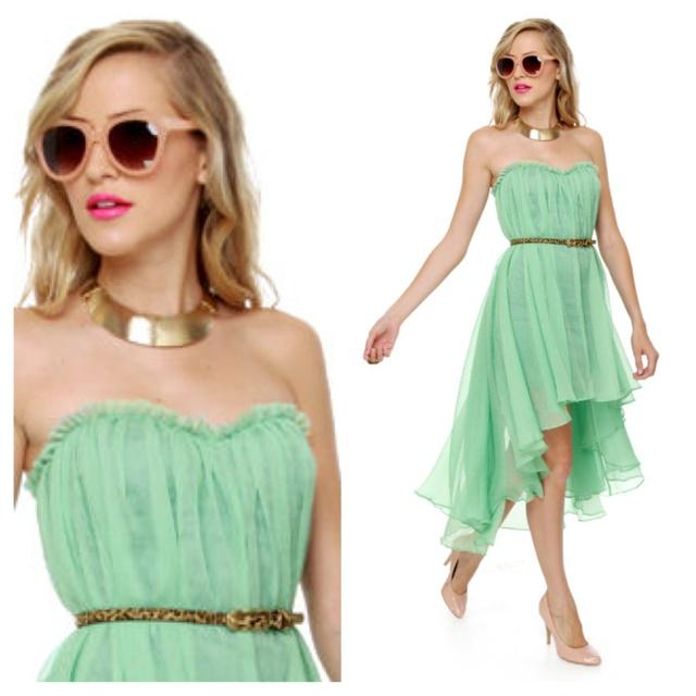 Choux vert cocktail dress