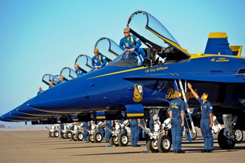 Air shows! And more specifically, the Blue Angels. I have a group pic with them. <3