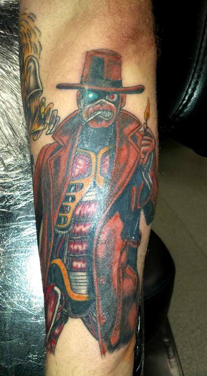 iron maiden tattoo stranger in a strange land sleeve work ideas rock music rocker tattoo. Black Bedroom Furniture Sets. Home Design Ideas