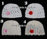 Caciulita tricotata pentru fetite ROSE