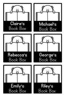 FREE Editable Book Box Labels