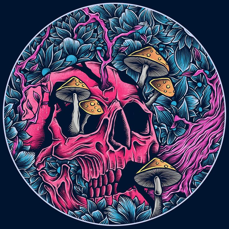 Obsessed With Skulls • Art by Robin Clarijs....