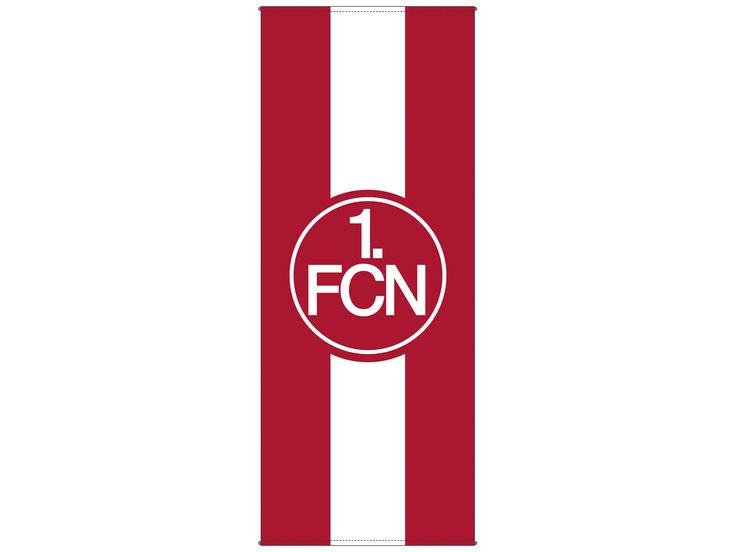 1 FCN | BANNERFAHNE FAHNE FLAGGE 1. FCN - 1. FC Nürnberg NEU