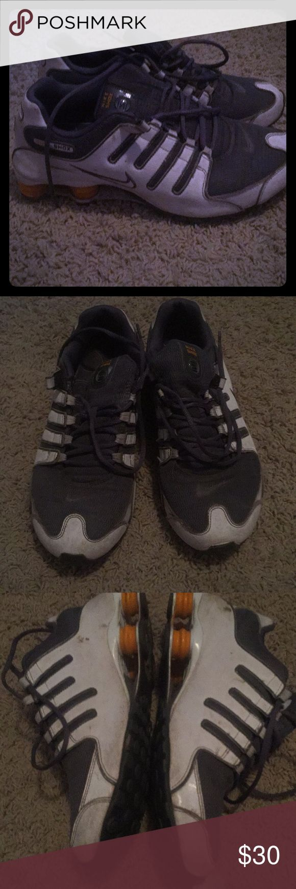 Nike shocks Dirty but good condition Nike Shoes Athletic Shoes