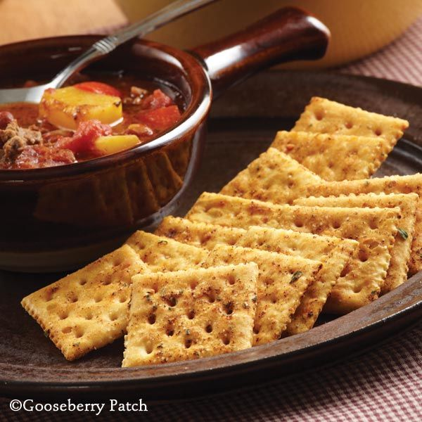 Gooseberry Patch Recipes: Spicy Chili Crackers from 101 Soups, Salads & Sandwiches Cookbook