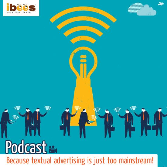 A podcast is an episodic series of audio, video or PDF streamed online through a computer or mobile. This technique is a hot trend in advertising!   GO PODCAST YOURSELF  #InteractiveBees #Podcast #Advertising