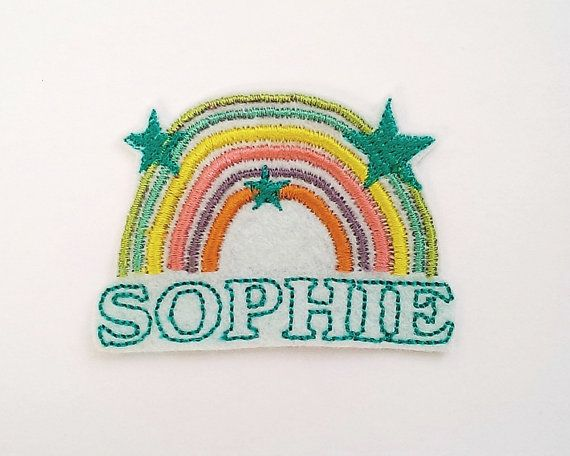 Custom Name Patch/Personalised Embroidered Patch/Rainbow/Retro Patch/Patches  for Jackets/Kids Patch/Sew On/Iron on