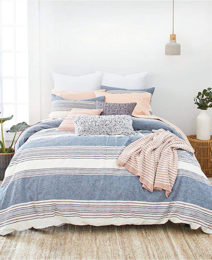Splendid Tuscan Stripe King Comforter Set - Navy/Multi