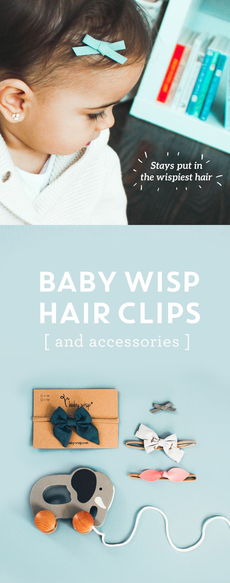 Cute baby hair accessories including clips, headbands, and bows that tame even the wispiest growth. Great ideas and styles for a newborn girl, even if she has just a little bit of hair!