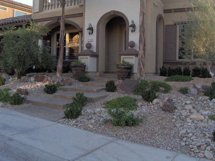 Front Yard Hardscape Ideas Thumbs Las Vegas Landscaping