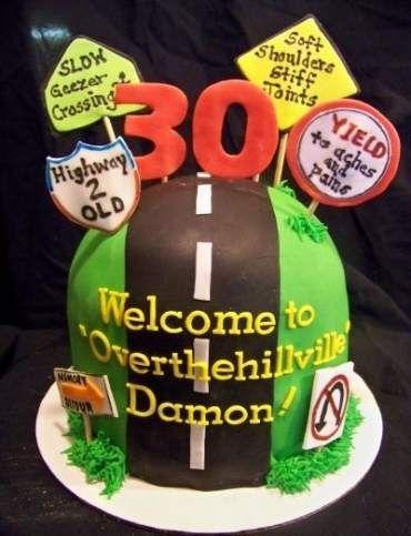 Pleasing Birthday Cake Funny For Men Over The Hill 38 Ideas Birthday Personalised Birthday Cards Vishlily Jamesorg