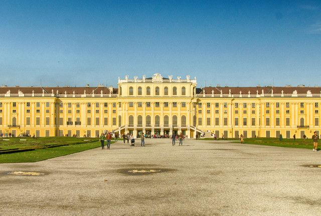 The Schoenbrunn Palace  One of the most elegant of Vienna's many imperial palaces, set in acres of beautiful parkland.
