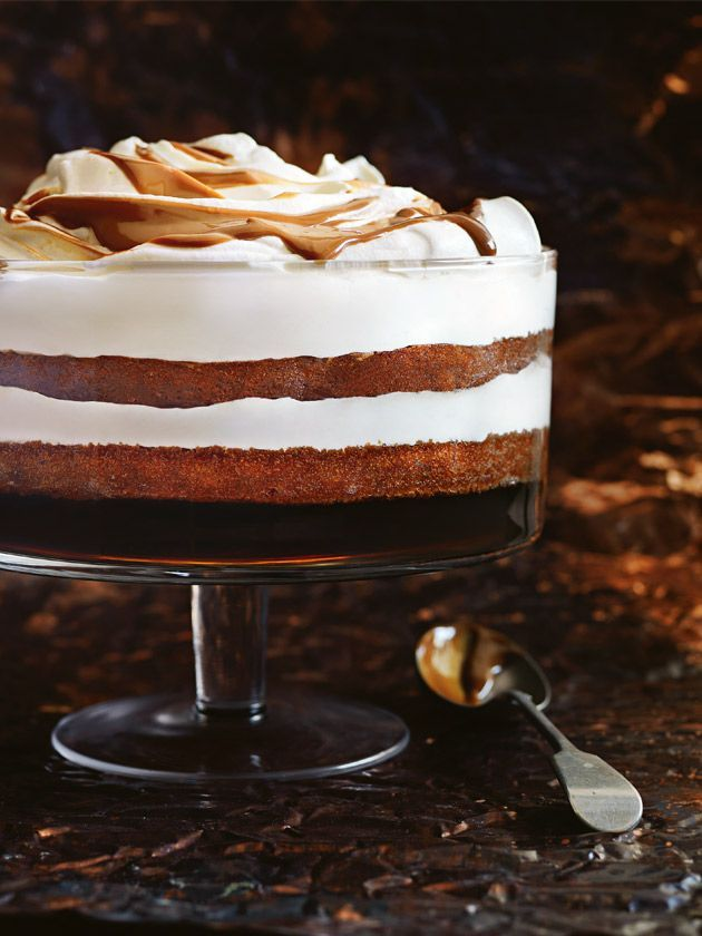 gingerbread, sherry and caramel trifle from donna hay magazine celebrate issue #84