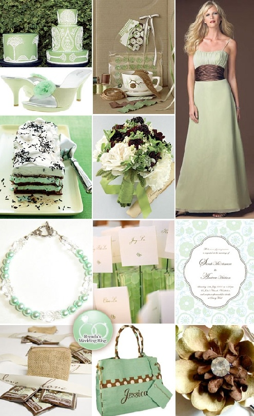 Mint and chocolate brown wedding ideas - it's like this was made just for me! ;)