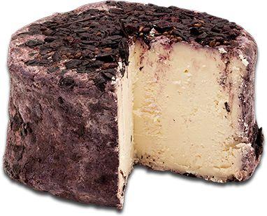 Roccolo divino es un queso de leche de vaca complejo italiana exquisita envejecido con vino Rabboso.