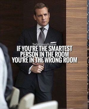 ...Wrong room... The point is to seek continual growth. Never stop learning.