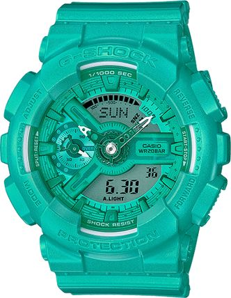 Casio G-SHOCK S SERIES LIGHT Teal GMAS110VC-3AC  Watches for sale from Authorized Dealer - Donaldson Watch Repair in Arizona