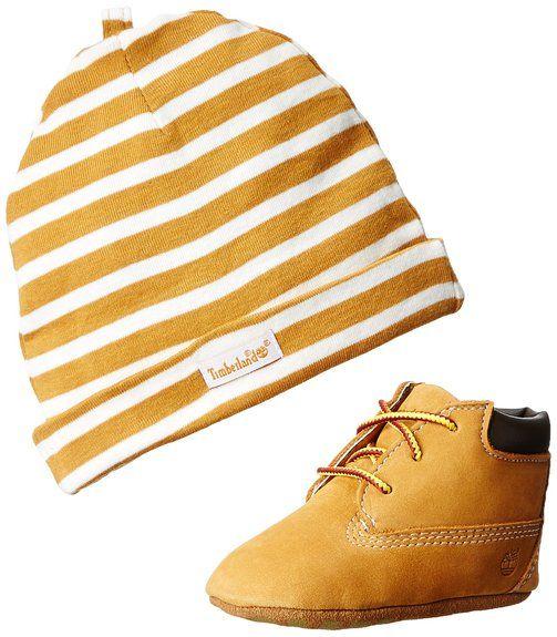 Timberland Crib Bootie W/hat, Unisex Baby Flache Hausschuhe, Gelb (Jaune (Wheat)), 18.5