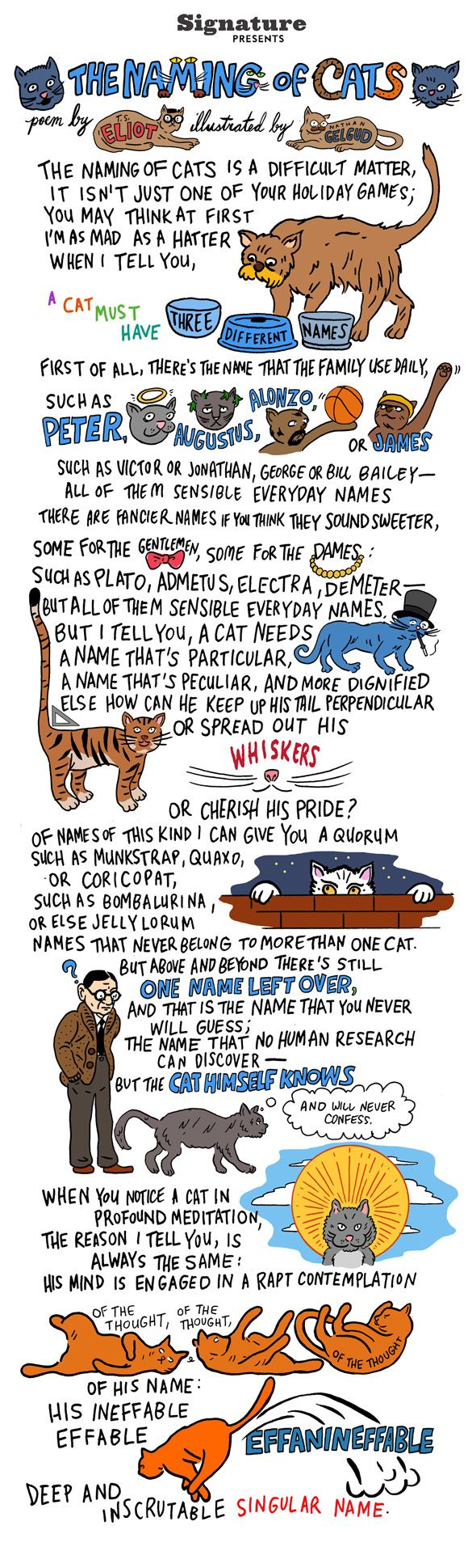 TS Eliot's 'The Naming of Cats': A Poem for Cat Lovers of All Stripes