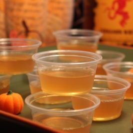 apple cider jello shots with fireball whisky jello shots that finally taste good fireball is nothing short of a gift from the gods that has been bestowed - Best Halloween Jello Shots