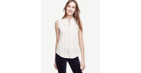 #Bluză de #damă Ann Taylor, #fashion, fără mâneci, cu inserții din #dantelă. #Bluze de #damă, #oferte #online.# Okkut.com, cel mai mare #mall #online din #România! Hai la #shopping!