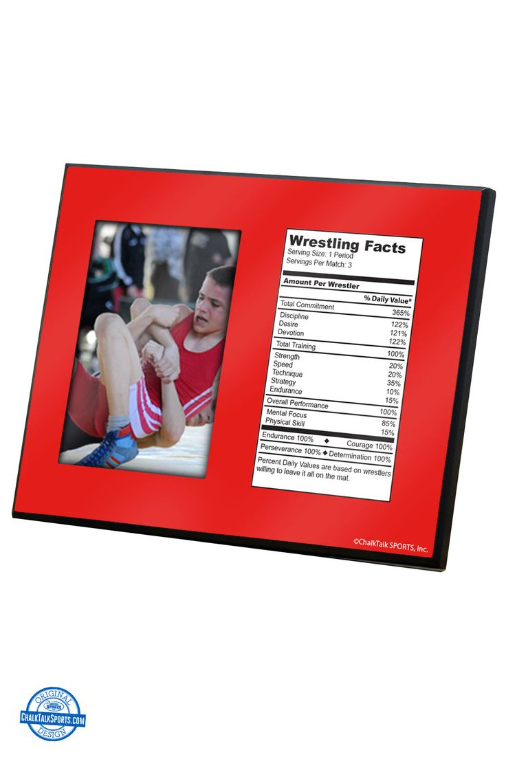 Get all the wrestling facts with our wrestling frames from ChalkTalkSPORTS.com
