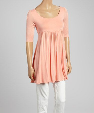 Another great find on #zulily! Peach Empire-Waist Top by MOA Collection #zulilyfinds