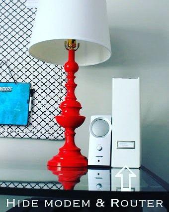 Tips kreasi box file : sembunyikan peralatan koneksi anda seperti modem dan router di dalam box file agar ruangan terlihat lebih rapih. (image via diycozyhome.com)  #inspirasi #rumah #dekorasi #kreatif #unik #kreasi #homedecor #homedesign #upgradehome #inspired #boxfile #organized #organising by inspirasi_rumahku_ http://discoverdmci.com