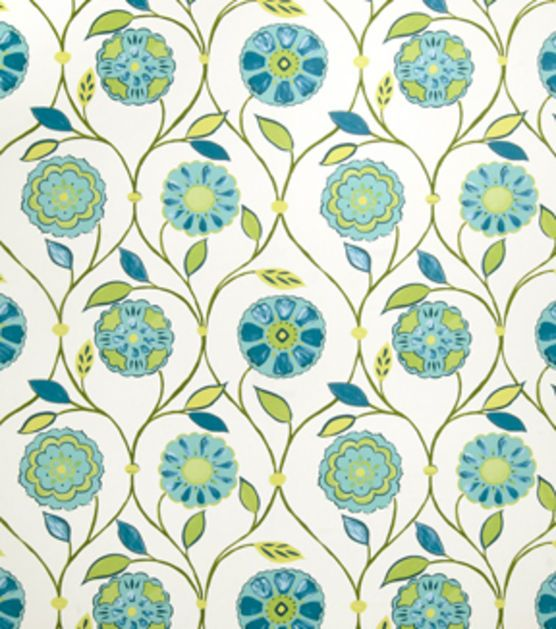 Home Decor Print Fabric-Eaton Square Seashore-Caribbean Floral/Foliage, , hi-res