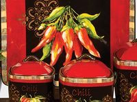 Porcelain Bread Box | KITCHEN WITH - CHILI -PEPPERS*** on Pinterest