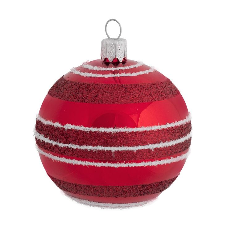 Scandinavian glass christmas bauble
