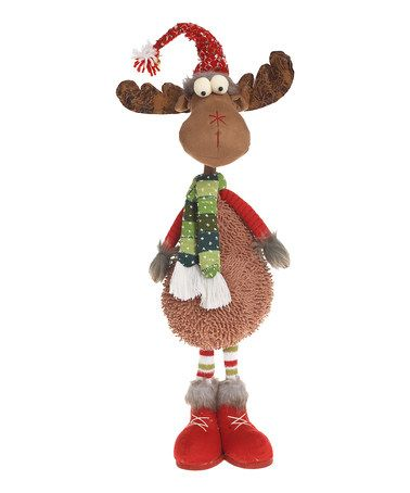 Look what I found on #zulily! Very Merry Plush Standing Moose Figurine #zulilyfinds