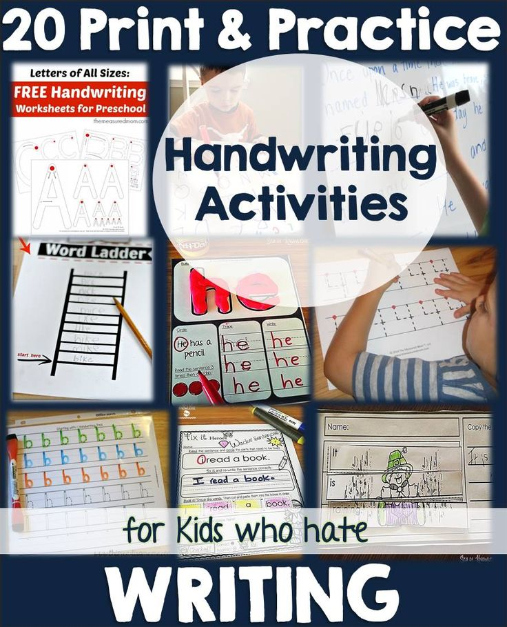 20 Handwriting Fun Print & Practice Activities for Kids Who Hate Writing